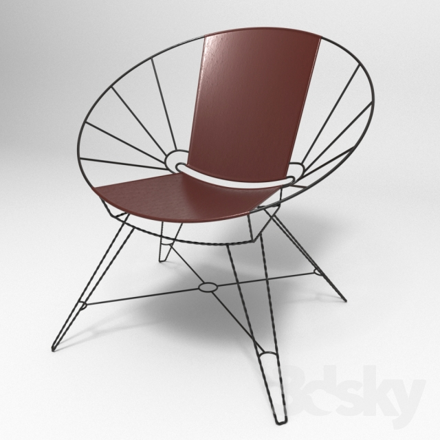 Remarkable 3D Models Arm Chair Sculpted Metal Leather Bowl Chair Ibusinesslaw Wood Chair Design Ideas Ibusinesslaworg