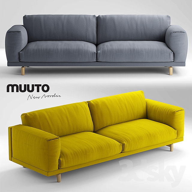 3d models sofa muuto rest sofa 3 seater sofa. Black Bedroom Furniture Sets. Home Design Ideas