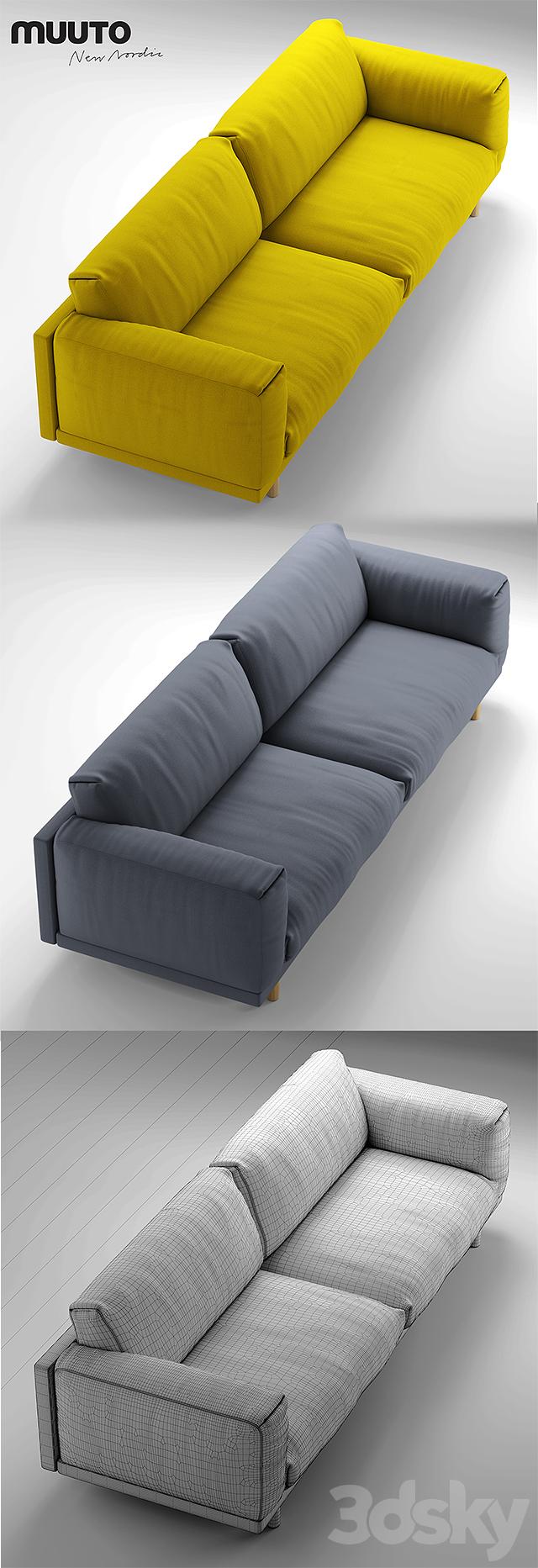 3d models sofa muuto rest sofa 3 seater sofa. Black Bedroom Furniture Sets. Home Design Ideas