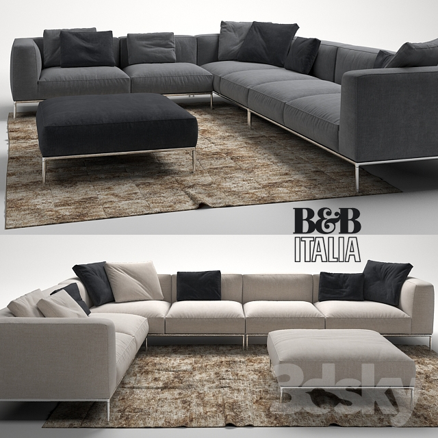 3d models sofa frank sofa by b b italia for Sofa bb italia