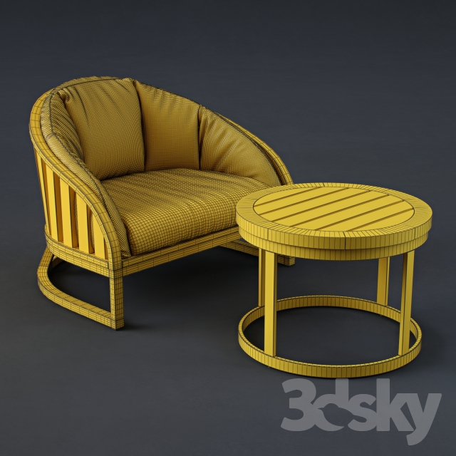 3d Models Arm Chair Summit Furniture Set