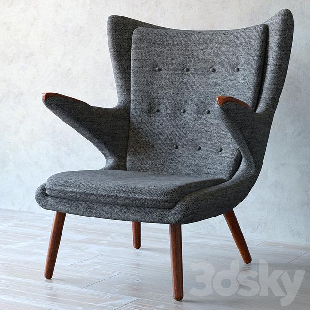 3d models arm chair hans wegner teddy bear armchair