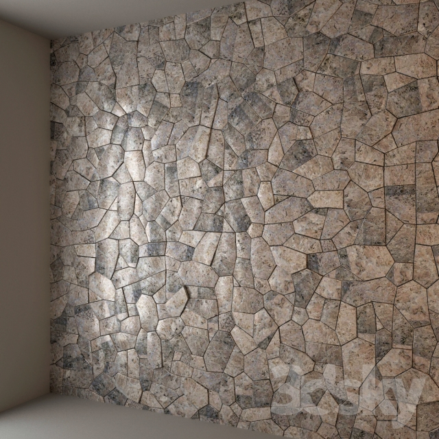 3d models: Other decorative objects - Decor stone wall