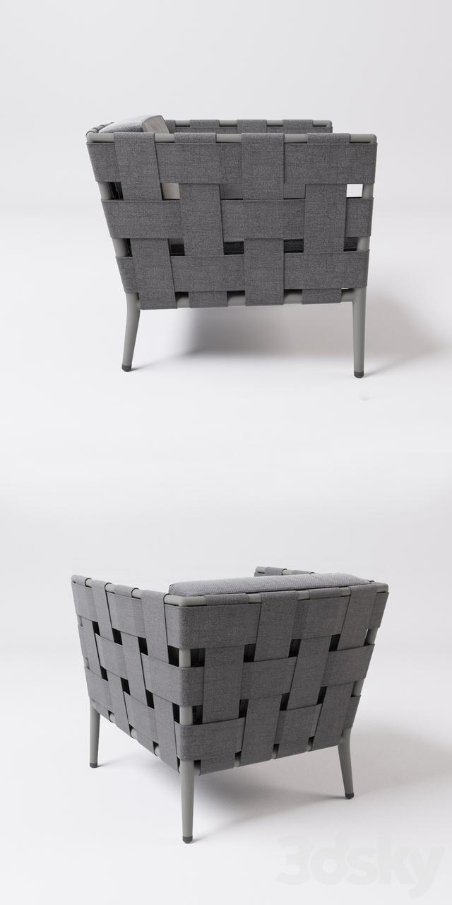 3d Models Arm Chair Cane Line Conic Armchair