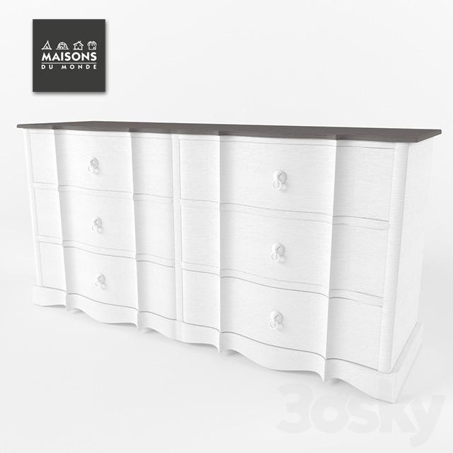 3d models sideboard chest of drawer maisons du monde. Black Bedroom Furniture Sets. Home Design Ideas