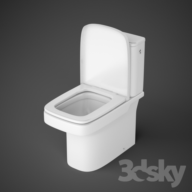 3d models toilet and bidet wc roca dama n for Roca dama toilet