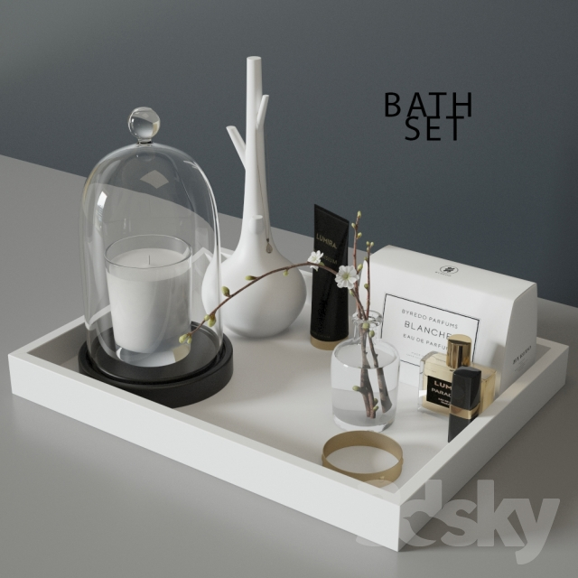 3d models bathroom accessories bath set for 3d bathroom accessories