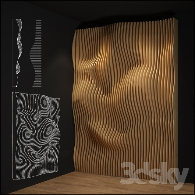 3d models: Other decorative objects - parametric wall
