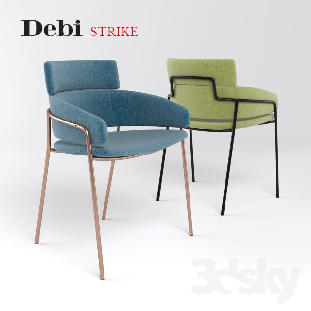 3d Models Chair Debi Strike Armchair