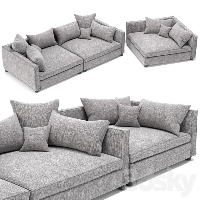 3d Models: Sofa   Bolia Mr.Big Sofa 2 Units And Cornerunit