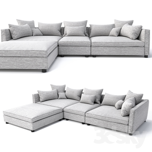 3d models sofa bolia mr big sofa 3 units and pouf for Bolia sofa