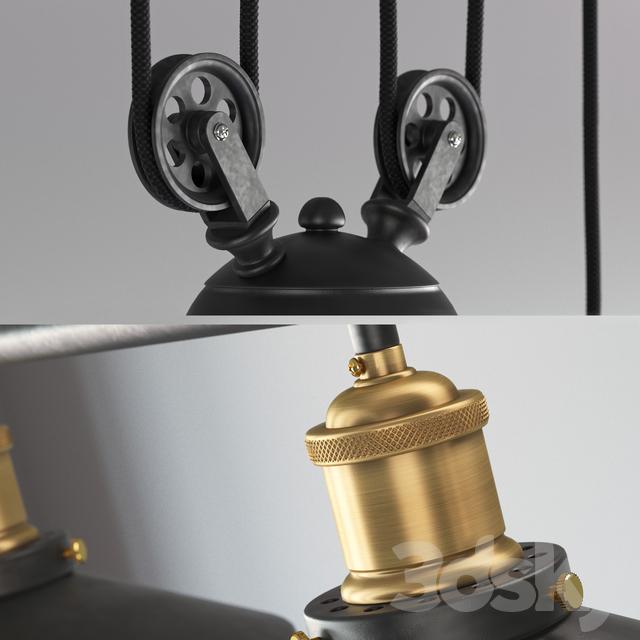 3d models ceiling light vintage loft industrial led. Black Bedroom Furniture Sets. Home Design Ideas