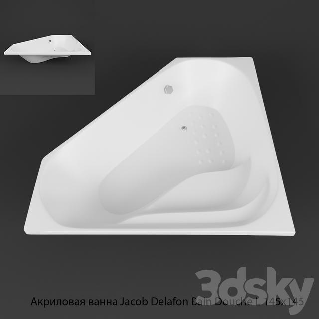 3d models bathtub acrylic bath jacob delafon bain douche - Douche jacob delafon ...