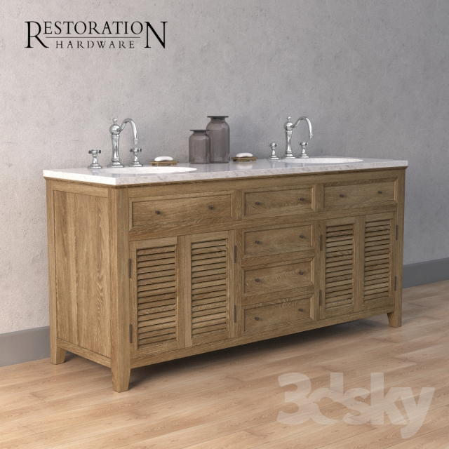 3d models bathroom furniture restoration hardware for Model decoration maison