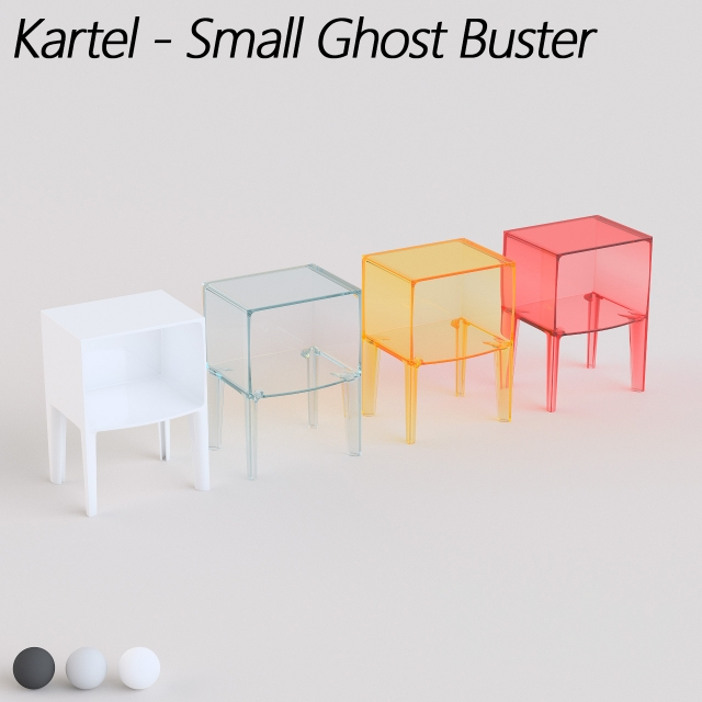 3d models: Table - Kartell - Small Ghost Buster