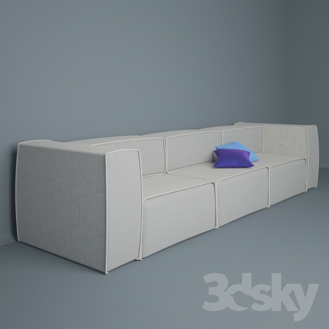 3d models sofa carmo sofa. Black Bedroom Furniture Sets. Home Design Ideas