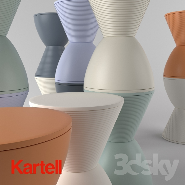 3d Models Table Kartell Prince Aha Side Table