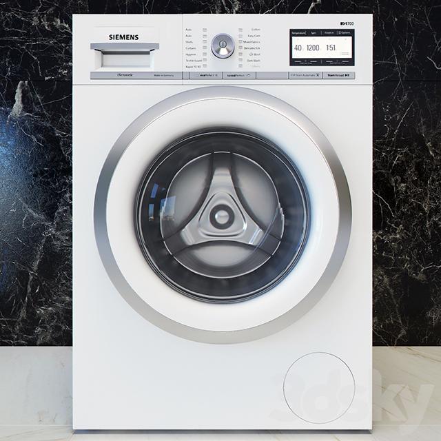 3d models household appliance siemens iq 700 washing for Siemens iq 700