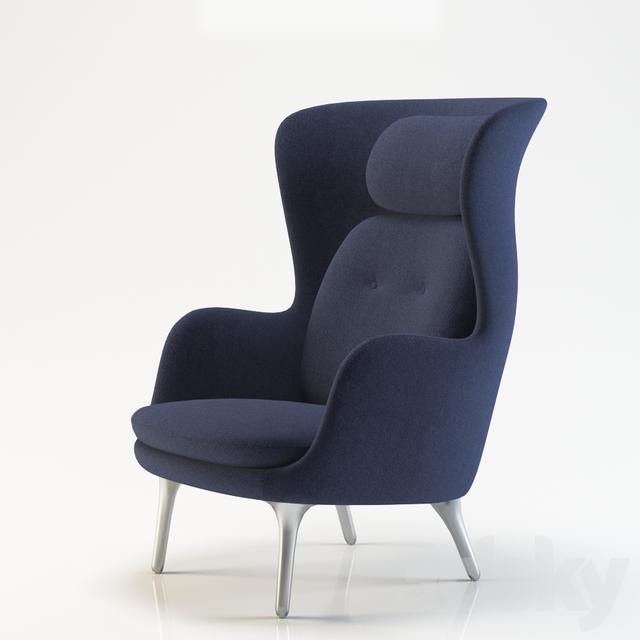 3d models arm chair fritz hansen ro. Black Bedroom Furniture Sets. Home Design Ideas