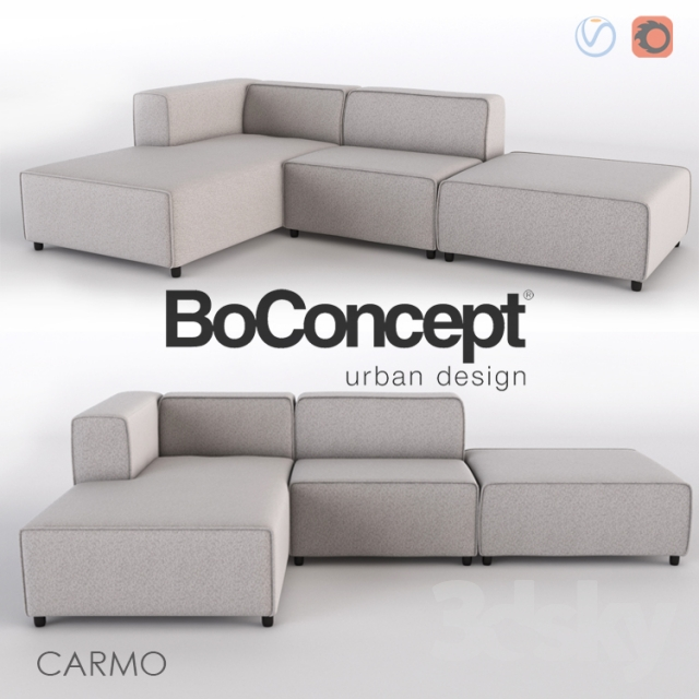 3d models sofa sofa for rest carmo. Black Bedroom Furniture Sets. Home Design Ideas