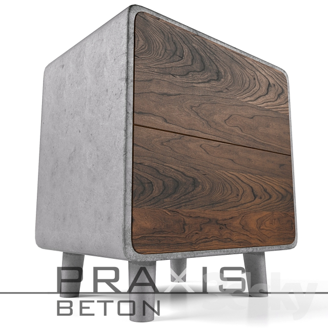 3d models sideboard chest of drawer tumba praxis beton. Black Bedroom Furniture Sets. Home Design Ideas