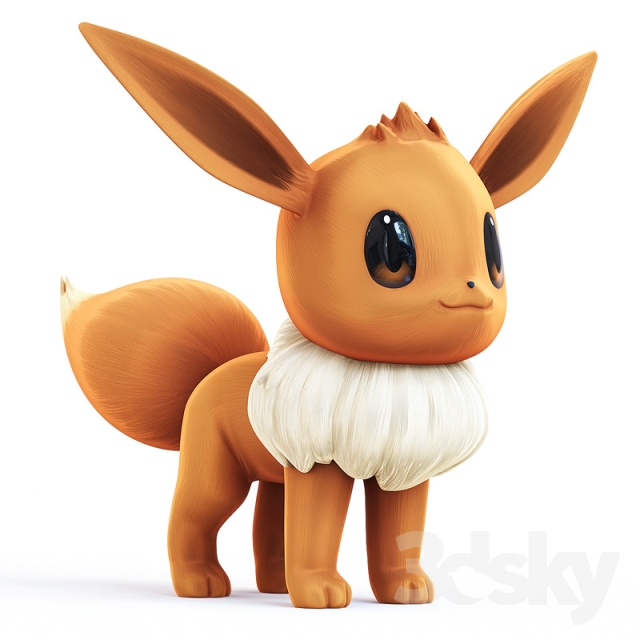 3d models creature eevee - Pokemon 3d download ...