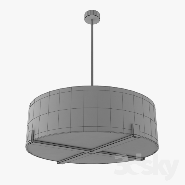 Ceiling Light Crossbar : D models ceiling light porta romana cross braced