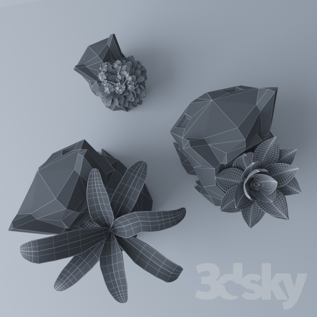 3d models: Indoor - flower pot Bulbasaur
