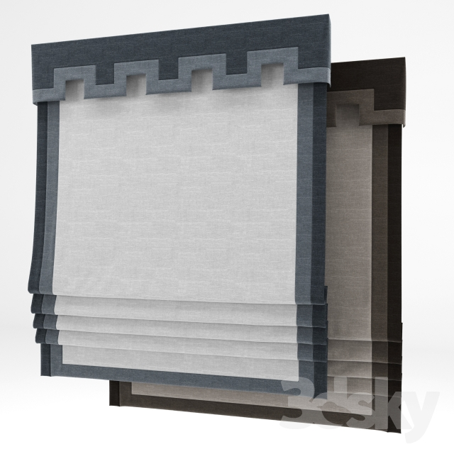 3d models curtain roman shade 25 for 25 roman shade