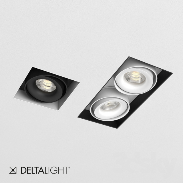 3d models spot light delta light minigrid in trimless