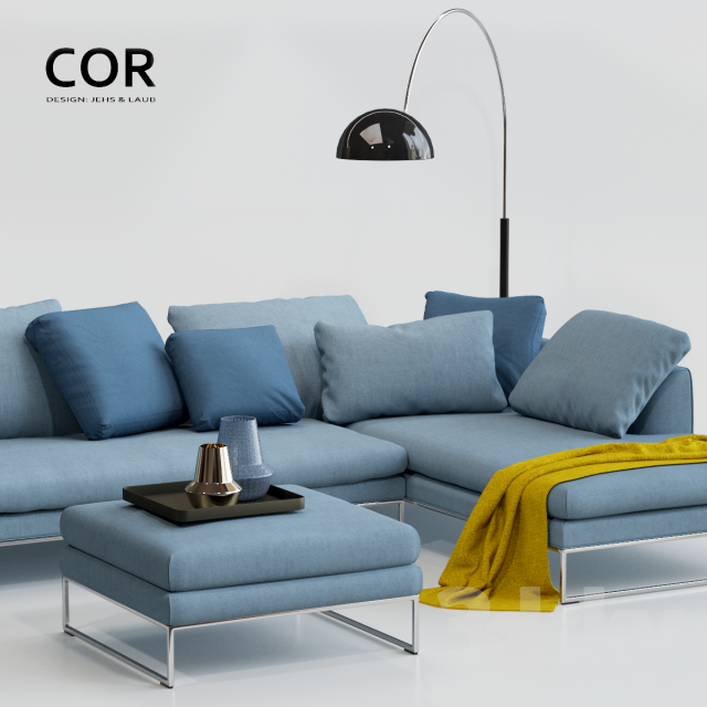 3d models sofa cor mell lounge. Black Bedroom Furniture Sets. Home Design Ideas