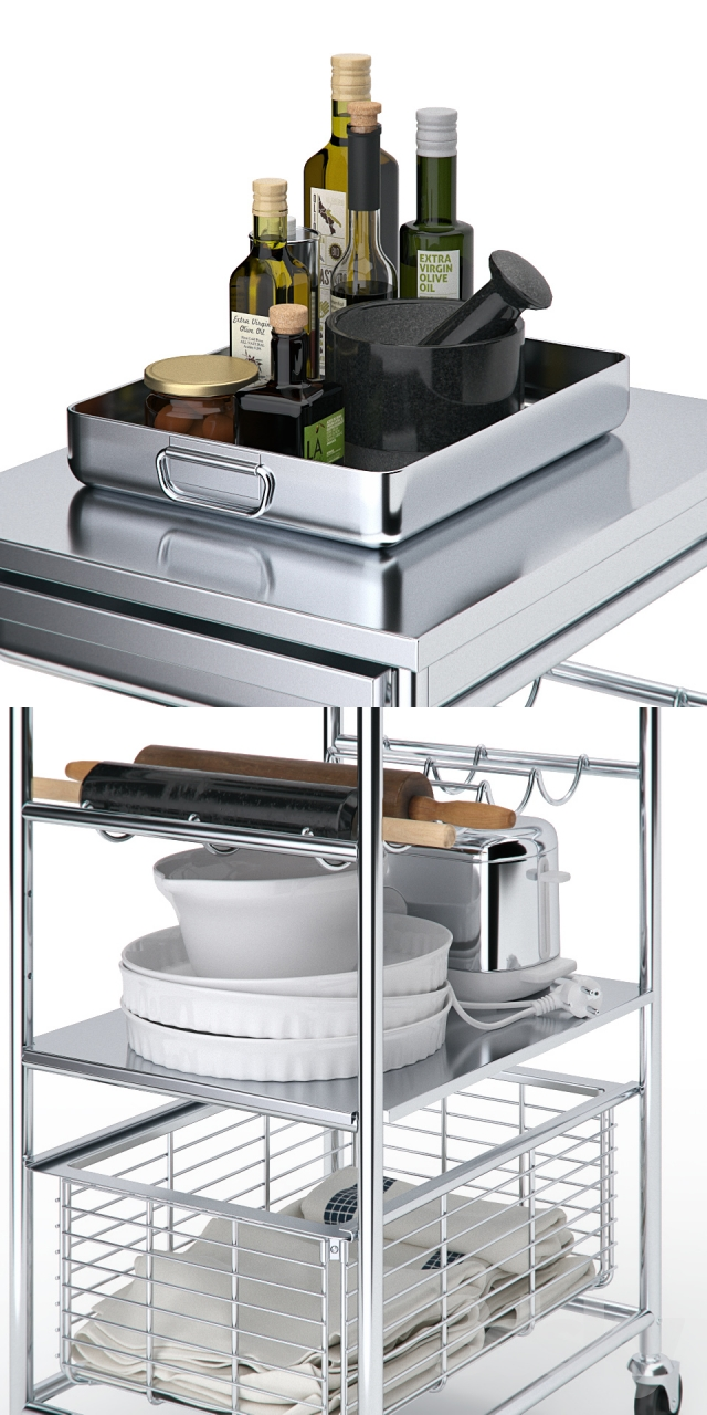 3d Models Other Kitchen Accessories Table Ikea Grundtal And D Cor For The Kitchen