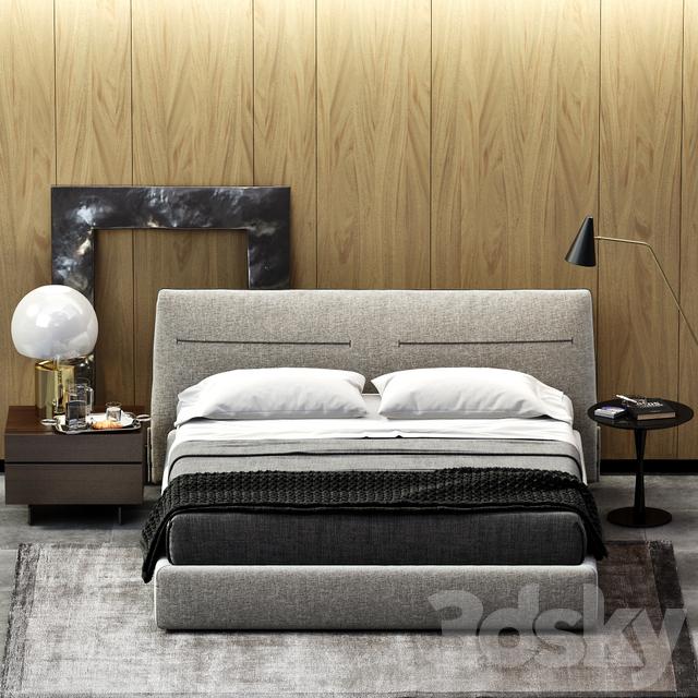 3d models bed poliform jacqueline bed - Letto poliform jacqueline ...