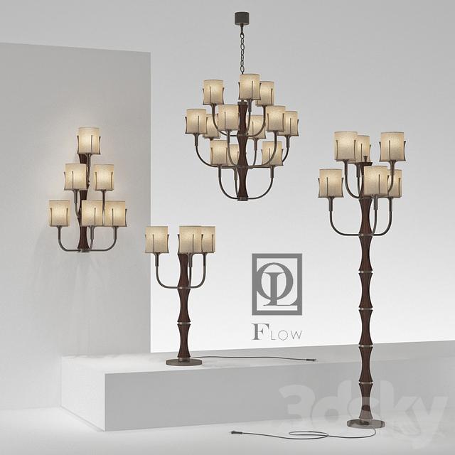 3d models: Ceiling light - lamps Officina Luce _Flow