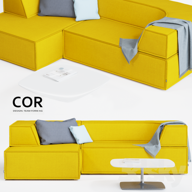 3d models sofa cor trio sofa. Black Bedroom Furniture Sets. Home Design Ideas