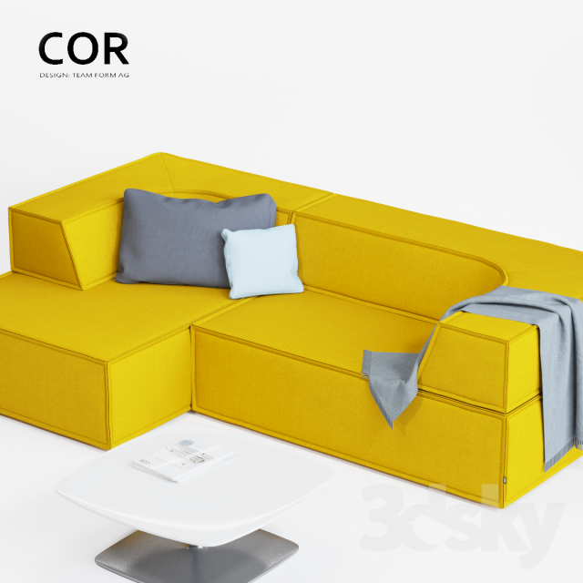 3d models sofa cor trio sofa. Black Bedroom Furniture Sets. Home Design Ideas