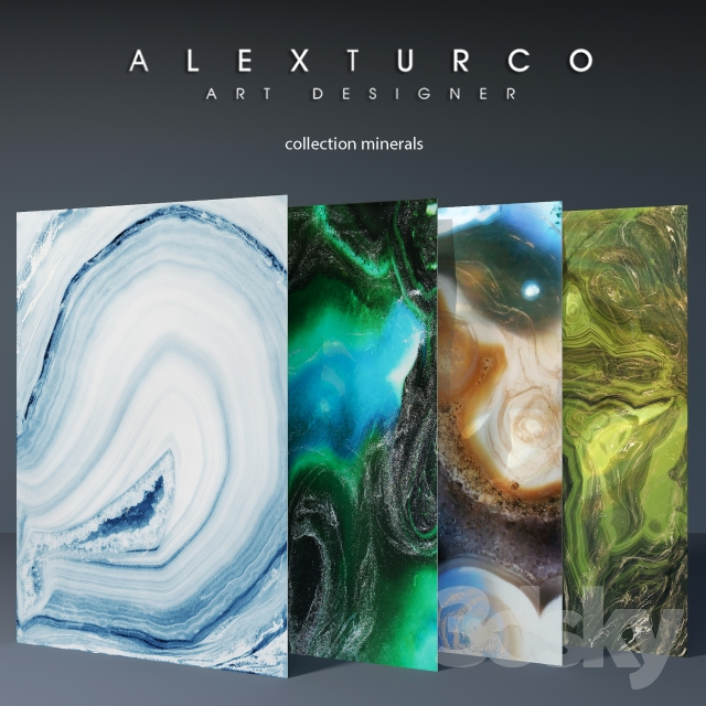 "Art-panel ""Alex Turco"" collection ""Minerals"""
