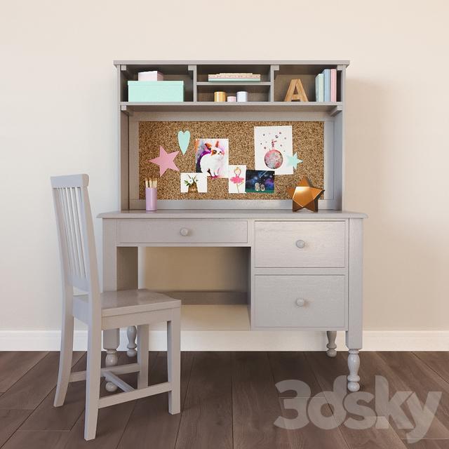 Catalina Storage Desk & Tall Hutch
