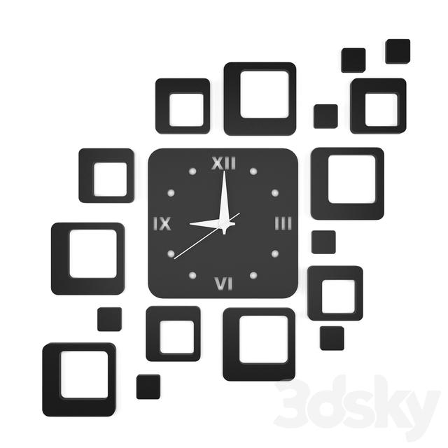 Decorative Wall Clock Model : D models other decorative objects wall clock