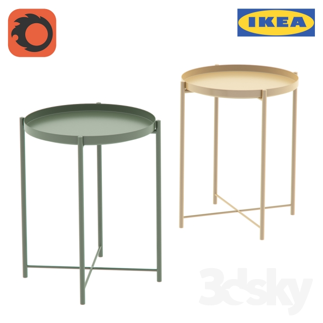 3d Models Table Table Gladio Gladom Tray Table Ikea