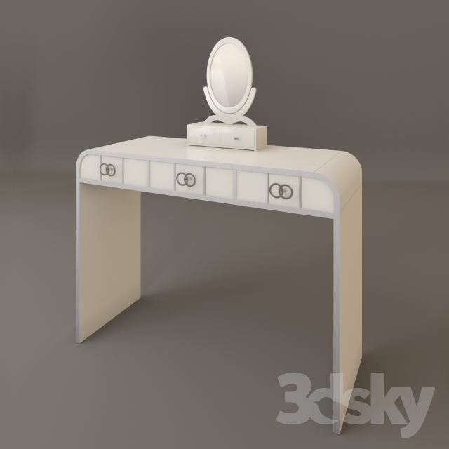 3d models table dressing table italian design for Dressing table design 2014