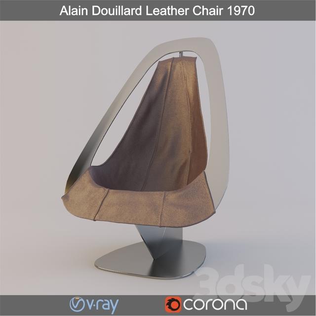 Strange 3D Models Arm Chair Alain Douillard Leather Chair 1970 Pabps2019 Chair Design Images Pabps2019Com