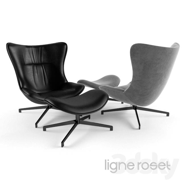 3d models arm chair amy ligne roset. Black Bedroom Furniture Sets. Home Design Ideas