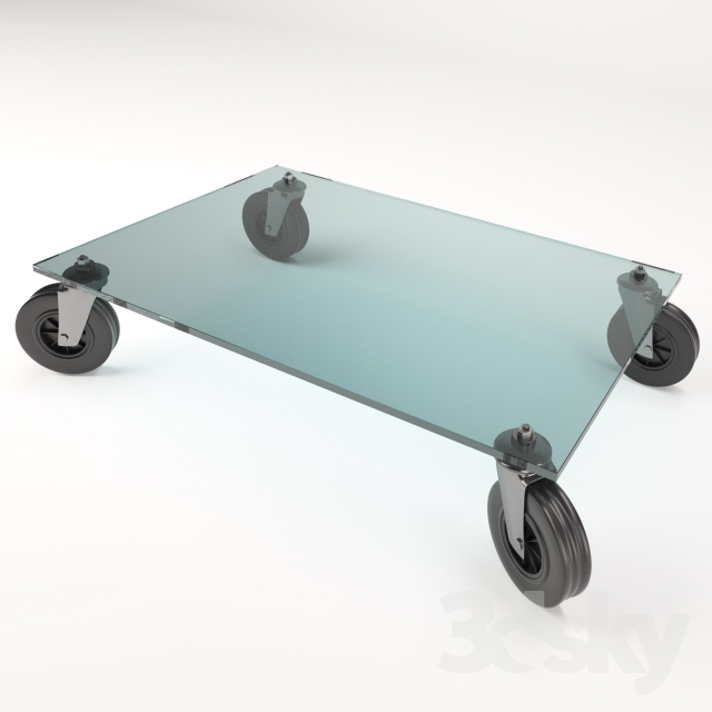 3d Models Table Tavolo Con Ruote Gae Aulenti