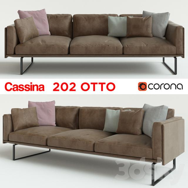 3d Models Sofa Cassina 202 Otto