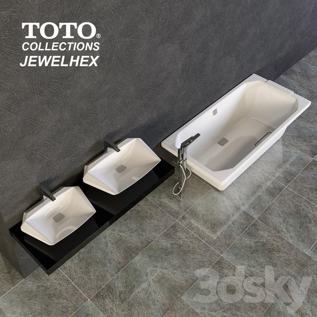 3d models: Wash basin - TOTO JEWELHEX