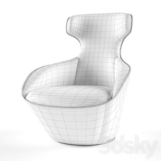 Awe Inspiring 3D Models Arm Chair Armchair Edito Lounge Pivoting Armchair Beatyapartments Chair Design Images Beatyapartmentscom