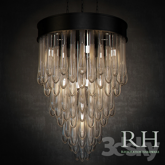 3d Models Ceiling Light Rh Teardrop Glass Chandelier
