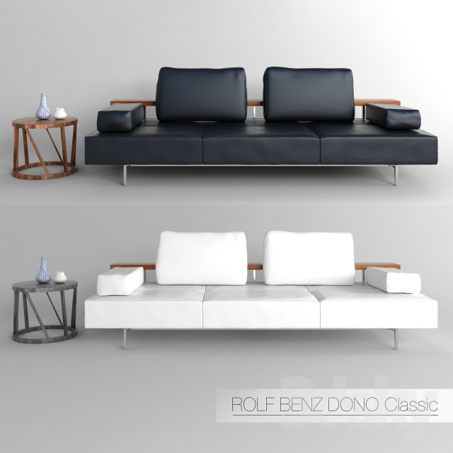 3d models sofa rolf benz dono. Black Bedroom Furniture Sets. Home Design Ideas