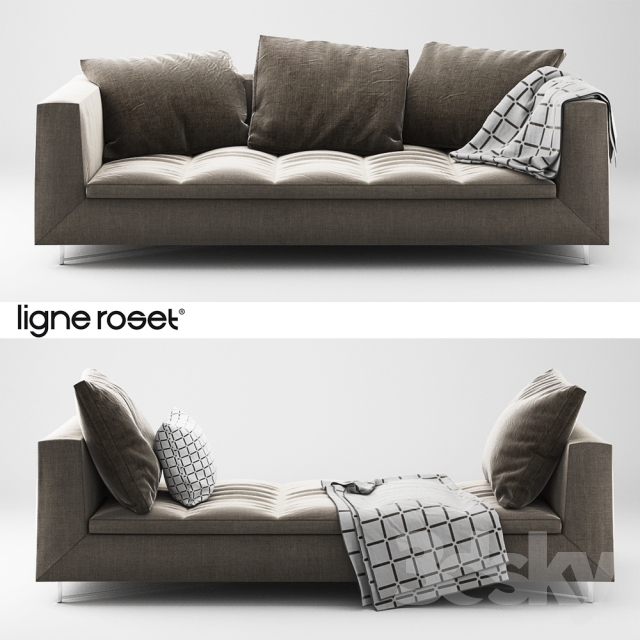 3d models: Sofa - Ligne Roset Feng Sofa and Day bed